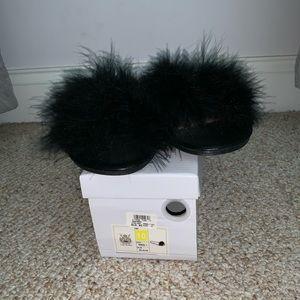 Shoes - Furry Slide Sandal